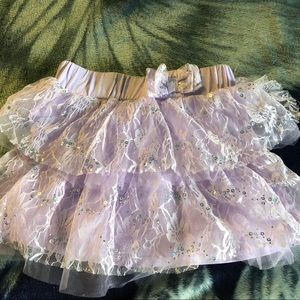 Adorable purple lace and tulle skirt
